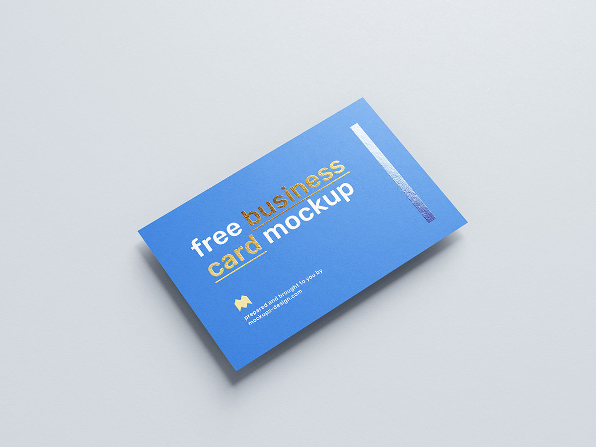 Free foil business card mockup