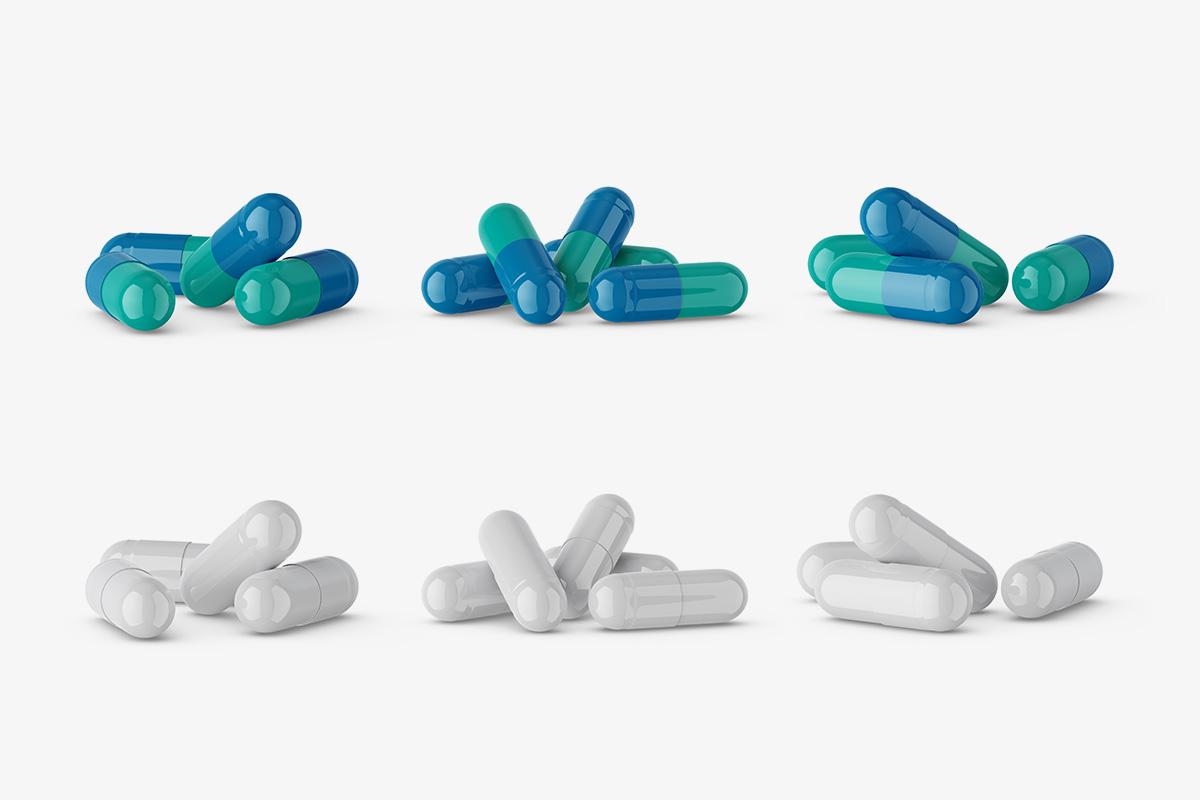 Free capsules mockup