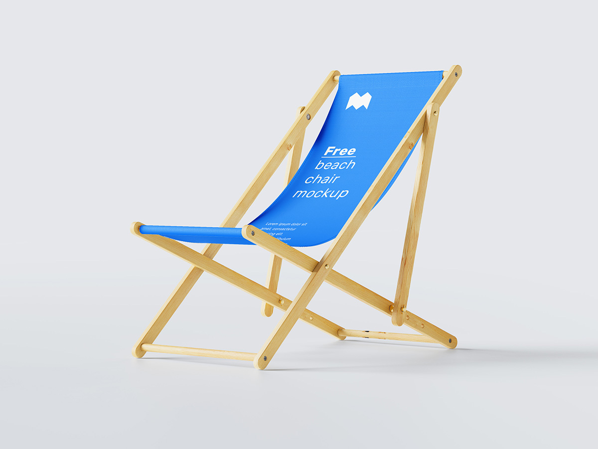 Free beach chair mockup