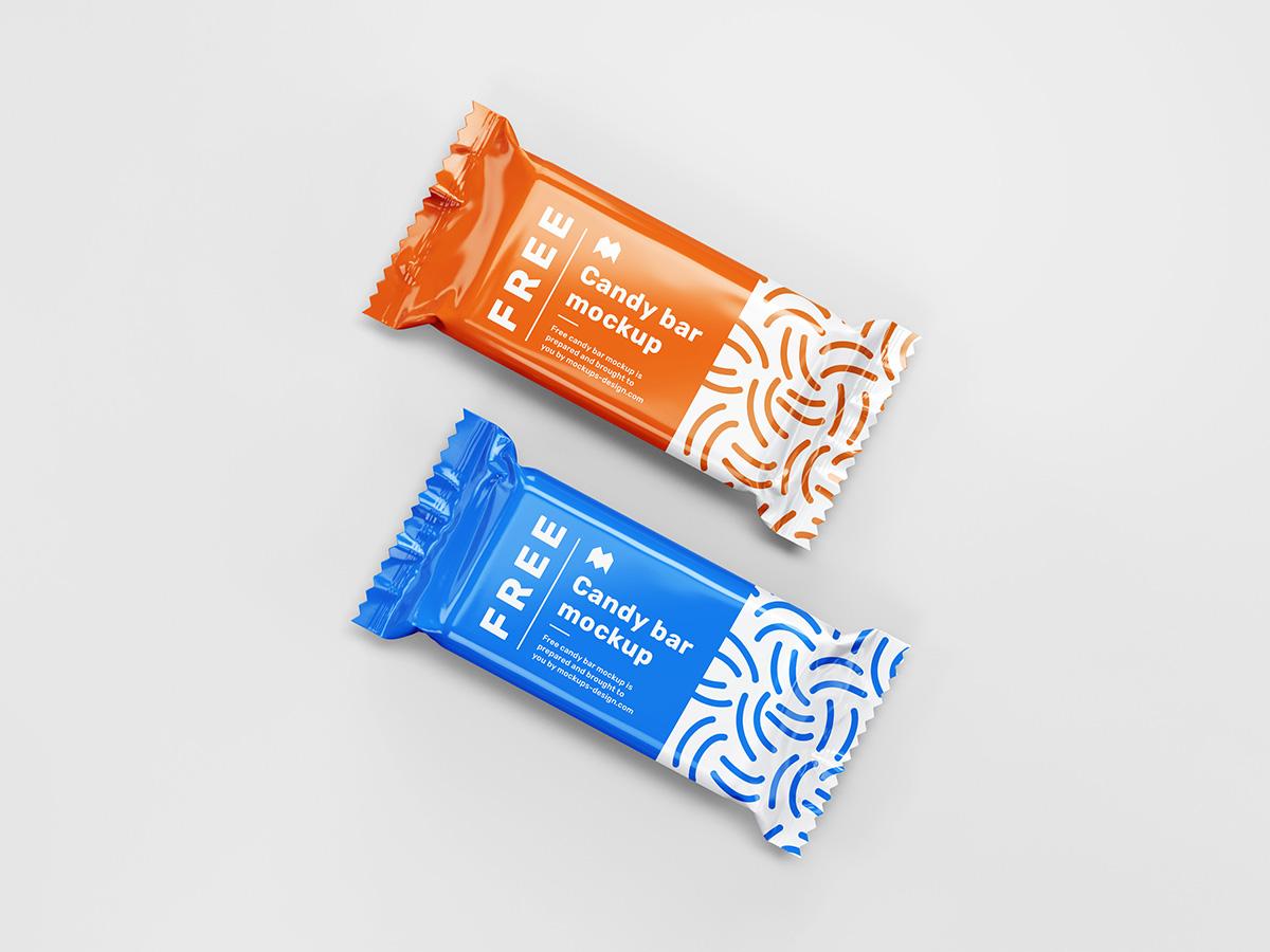 Free candy bar mockup