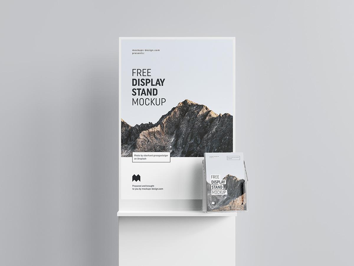 Free poster display mockup