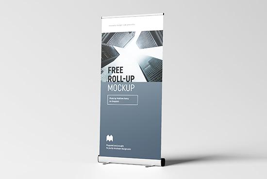Free roll-up mockup / 100x200 cm