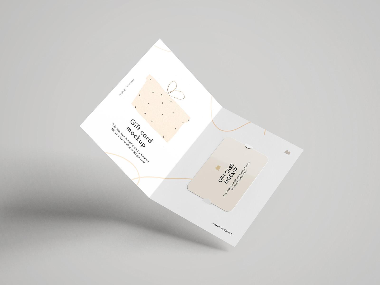 Free gift card mockup