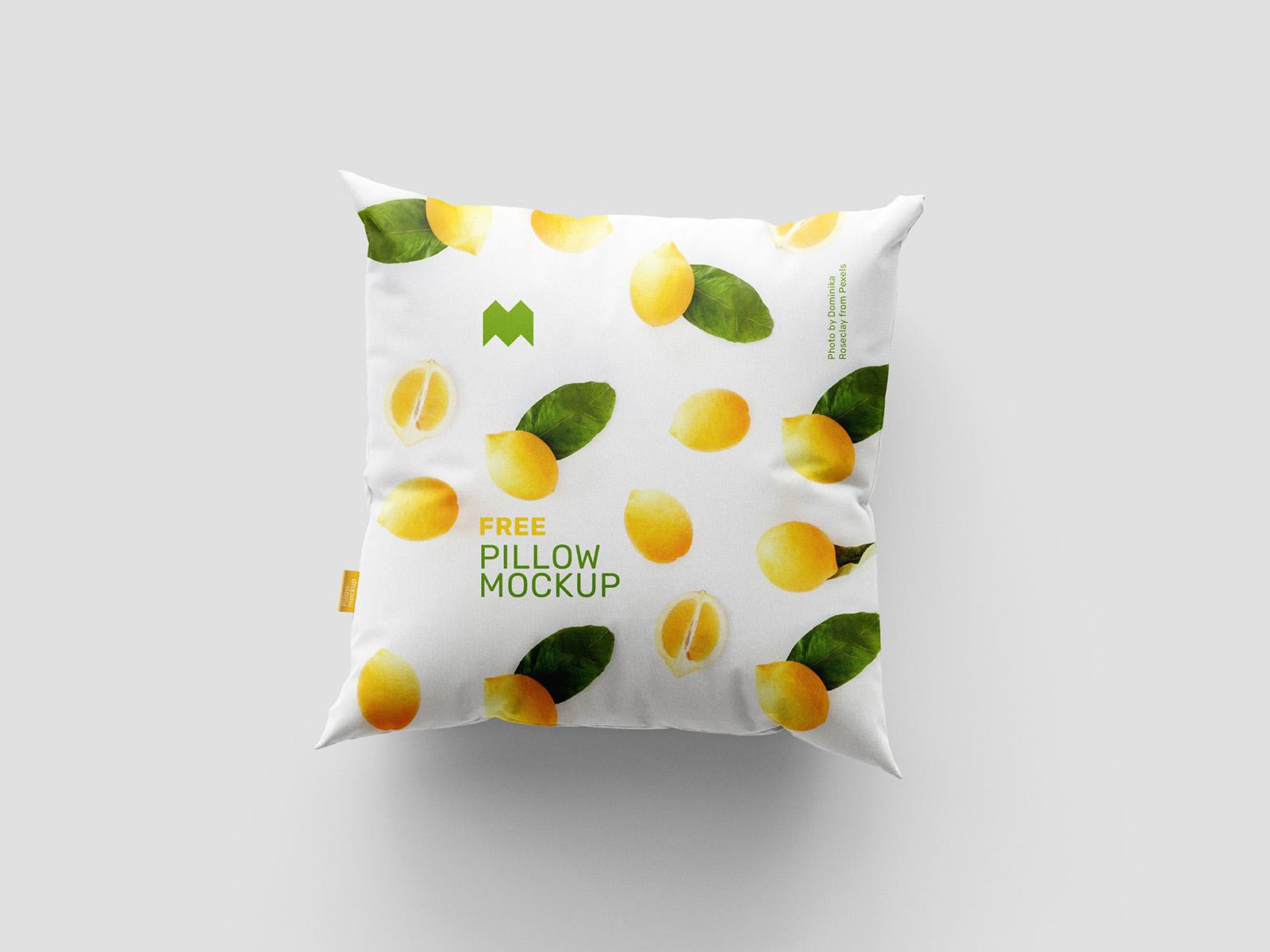 Free square pillow mockup