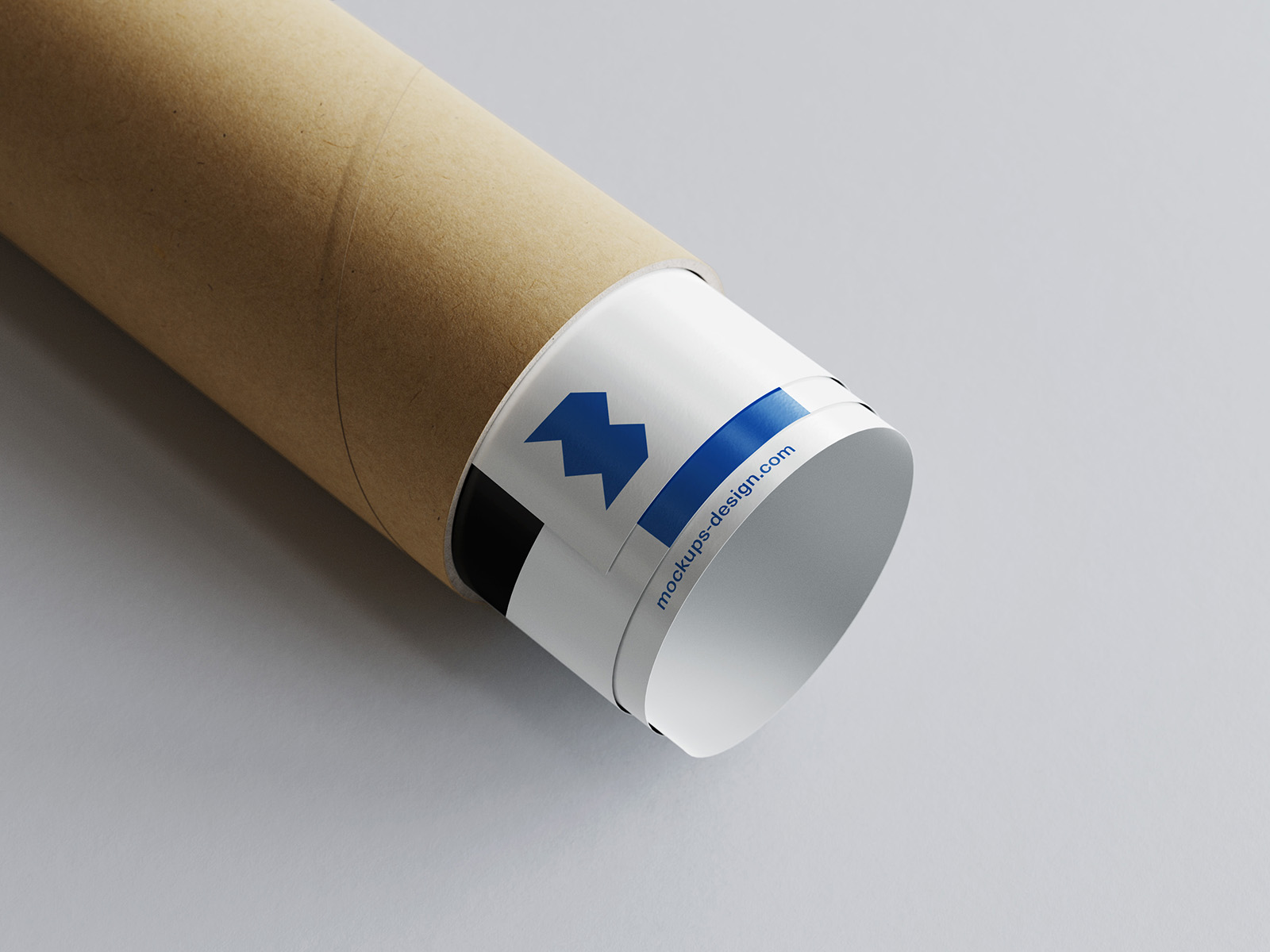Free rolled poster mockup