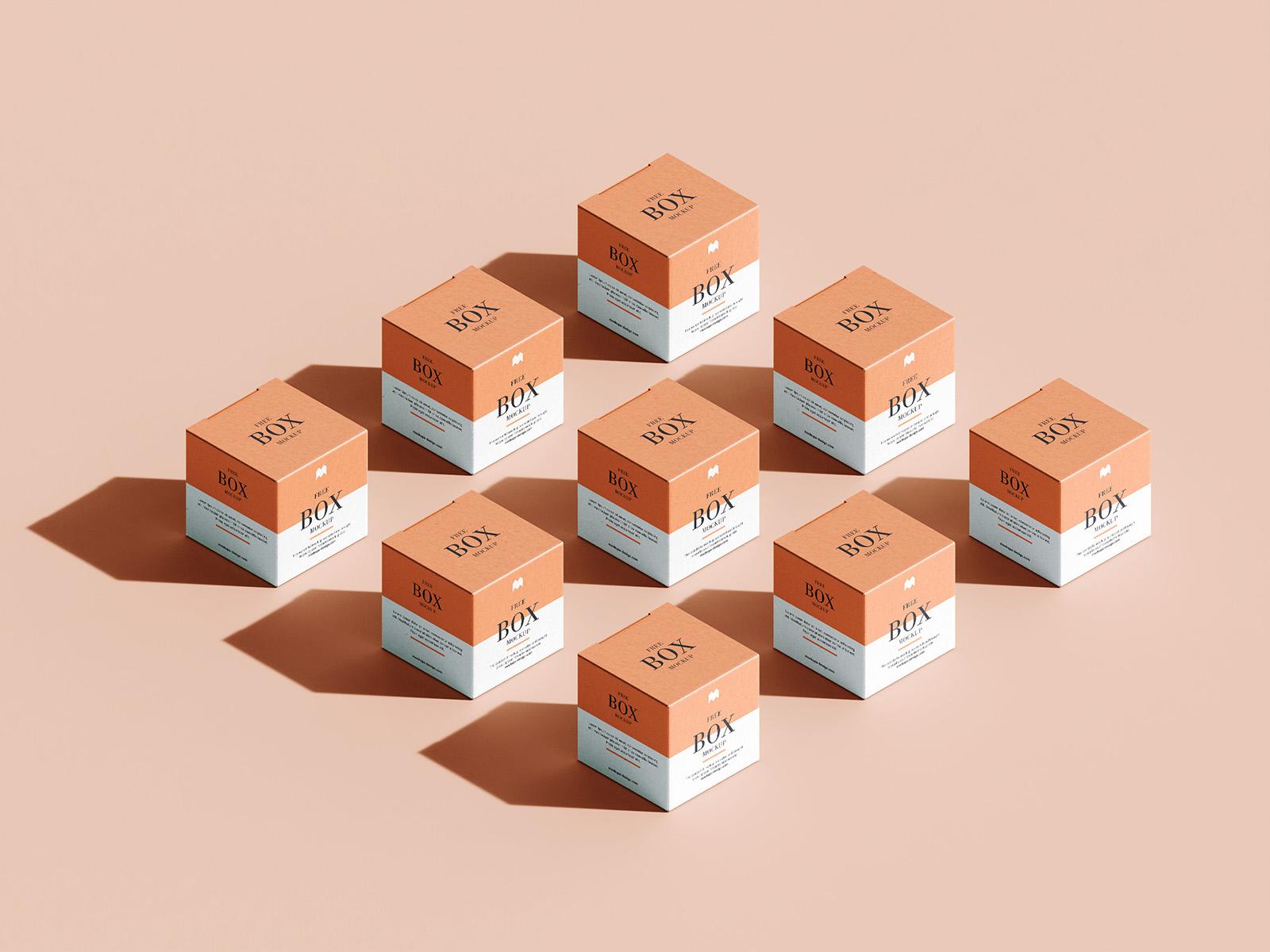 Free box mockup (in grid layout)