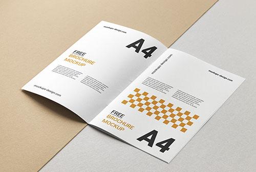 Minimalistic and clean A4 brochure mockup