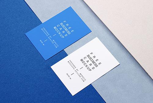 Business card pair mockup