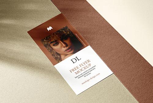 Single DL flyer with some cardboard mockup
