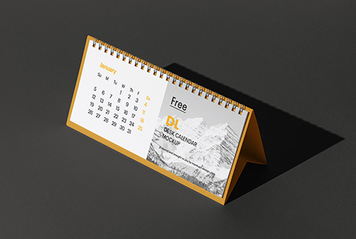 DL desk calendar mockup