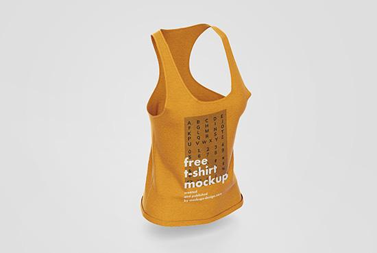 Womens sleeveless t-shirt mockup