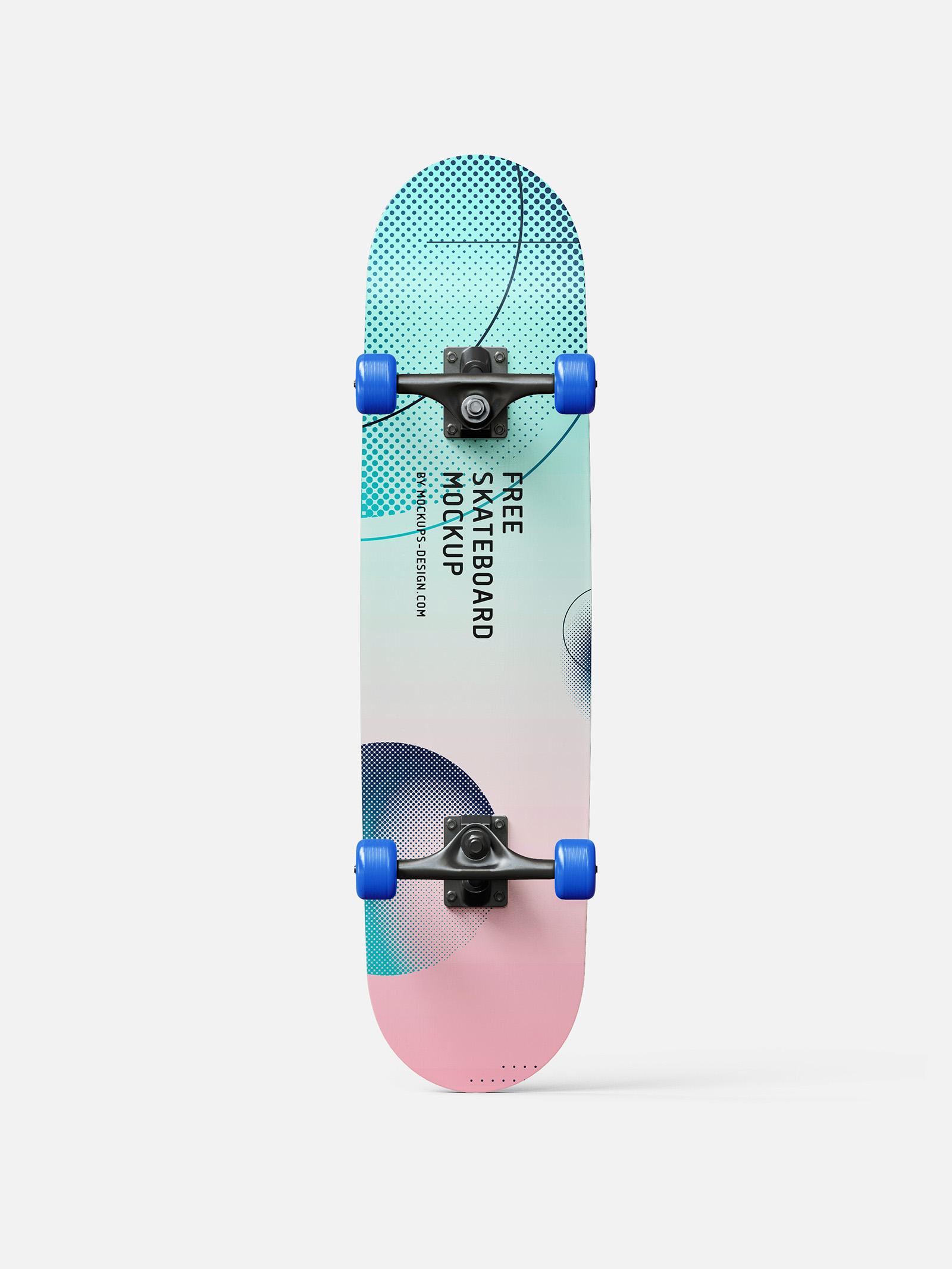 Free skateboard mockup