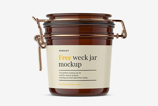 Free weck jar mockup