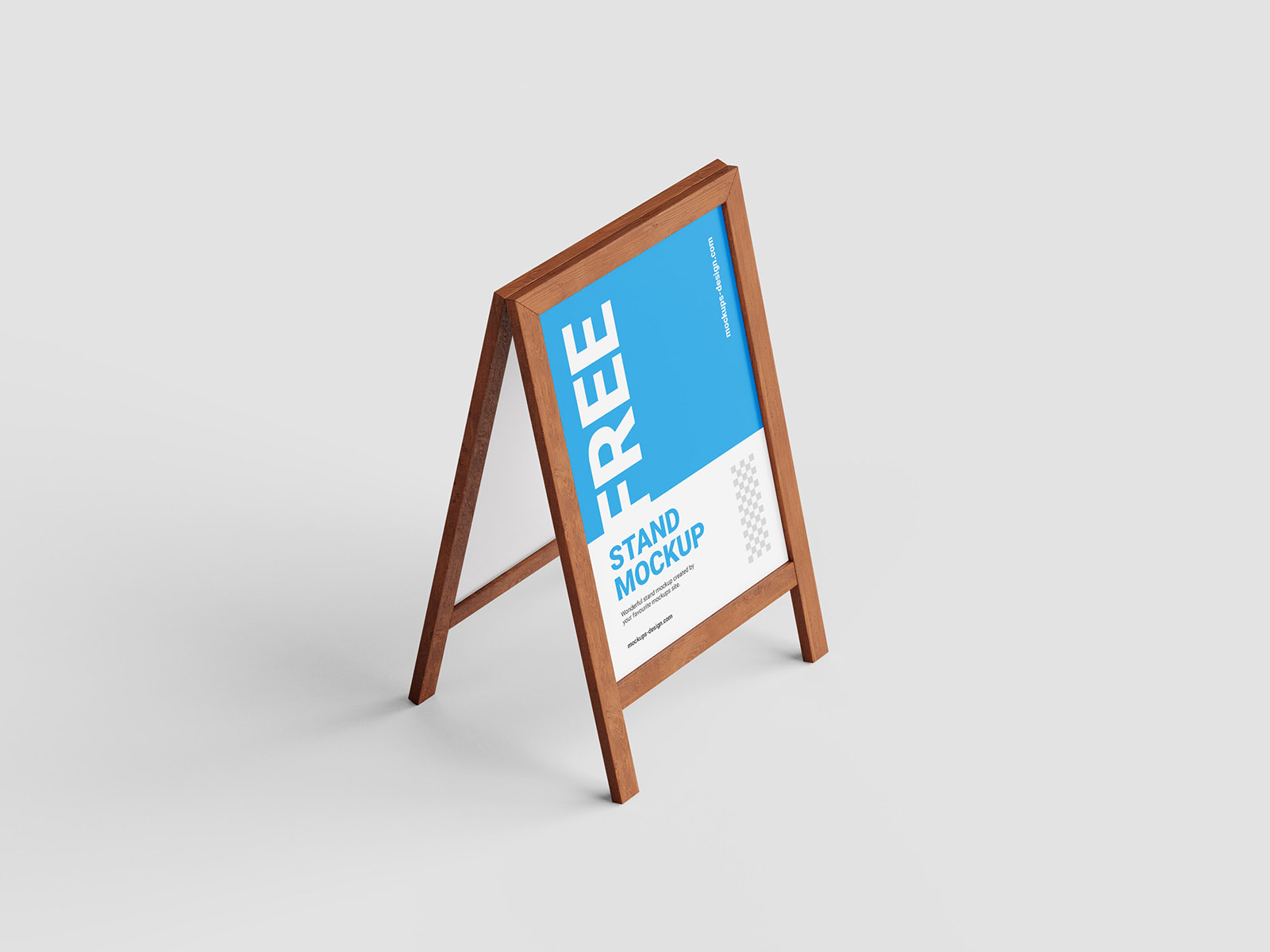 Free wooden stand mockup